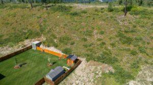 Clary Development Glentanna Ridge 445 Siska Drive UAV Aerial Photo fence facing north east