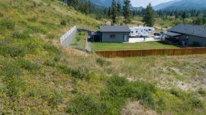 Clary Development Glentanna Ridge 453 Siska Drive UAV Aerial Photo retaining wall facing east