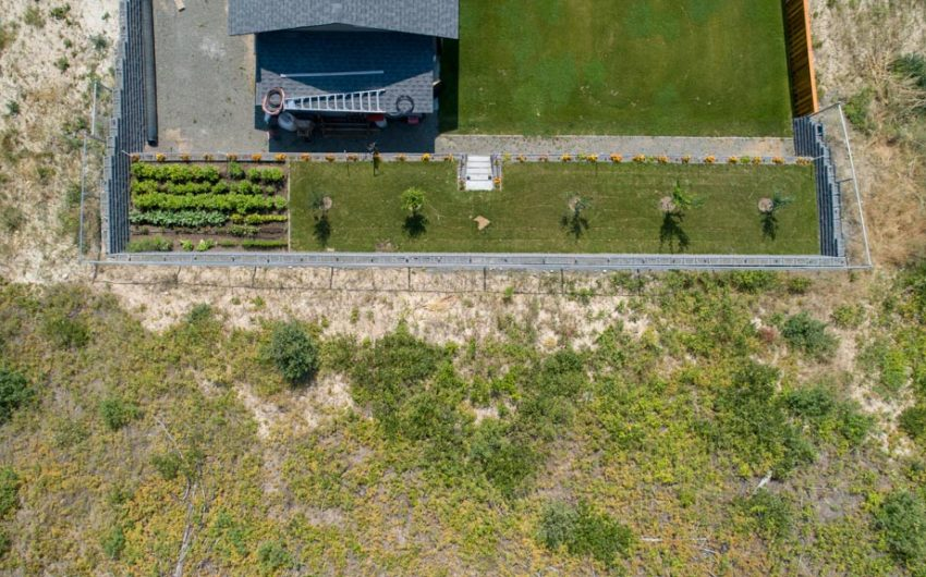 Clary Development Glentanna Ridge 453 Siska Drive UAV Aerial Photo garden and retaining wall
